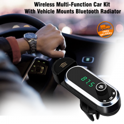 Super Wireless Multi-Function Car Kit With Vehicle Mounts Bluetooth Radiator, F1