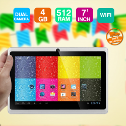 Lenosed A710, Tablet, 7 inch, Android 4.2.2, 4GB, Wi-Fi, Dual Core, 512MB DDR3, Dual Camera, 3G Dongle