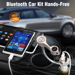 Professional Bluetooth Car Kit Hands-free Car MP3 Player FM Transmitter Dual USB Charger, With Red Light LCD Display, GT86