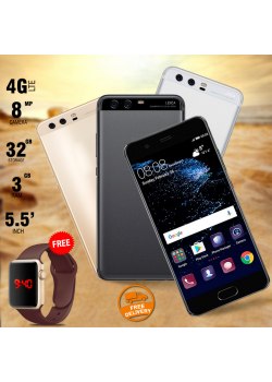2 in 1 Bundle Offer , Hpc H6 Smartphone, 4G Dual Sim, Macra Digital Unisex Watch, Black