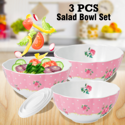 Cindrella Opal Glassware 3 Pcs Salad Bowl Set, CA102