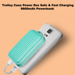 Trolley Case Power Box Safe & Fast charging 9800mAh Powerbank, Trolley9