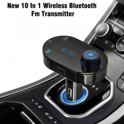 New 10 In 1 Wireless Bluetooth Fm Transmitter, Modulator, Handsfree Usb Lcd Sd Mp3, BT101
