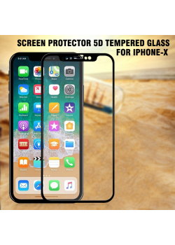 Screen Protector 5D Tempered Glass Only Iphone X, 5D-10
