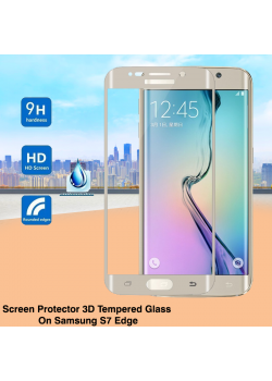 Screen Protector 3D Tempered Glass On Samsung S7 Edge, S6 Edge,S6+, 3D-3