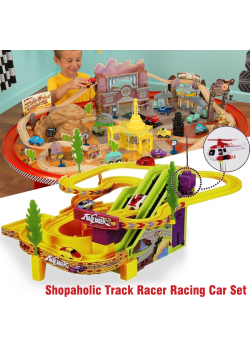 Shopaholic Track Racer Racing Car Set, Multicolor, TY963