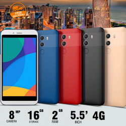 "Lenosed Mate10, 4G, Dual Sim, Dual Cam, 5.0"" IPS, Red"