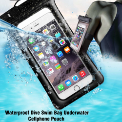 ROMIX Waterproof Dive Swim Bag Underwater Cellphone Pouch Phone Case with comb suit for 6inch smart Phone Bag, RH12