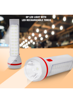 DP LED Light With LED Rechargeable Torch, DP9111