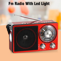 Pu Xing Fm Radio With Led Light, USB/SD/TF MP3 Player, PX-356LS