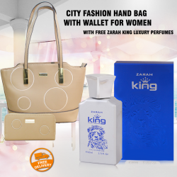 City Fashion Candy Hand bag With Wallet For Women, With Free Zarah King Luxury Perfumes, CB9708