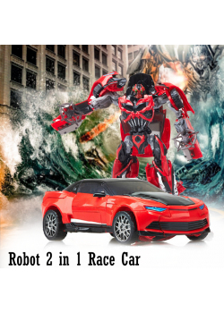 Robot 2 in 1 Race Car Transform Light & Voice Your best friend to play with , MK2030A