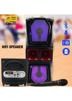 Sing-e Hifi Speaker Mp3 Player, Fm Radio, Bluetooth, With Mic, E333