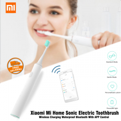 Xiaomi Mi Home Sonic Electric Toothbrush Wireless Charging Waterproof Blouetooth With APP Control, White, IPX7