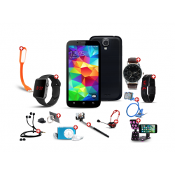 Summer  12 in 1 Bundle Offer,Nova N9 Smartphone, Universal Rotating Phone plate Holder, Portable USB LED Lamp, Zipper Stereo Wired Earphones, Ring Holder, Headphone, Mobile holder, Macra watch, Yazol watch, Selfie stick, Mp3 player, Led band watch