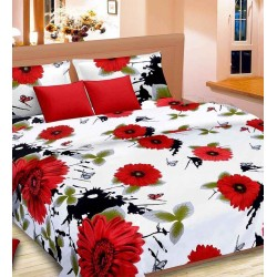 Buy 1 Get 1 Special Offer Wanasa Duble Size Bed Sheet And Single Bed Sheet Combo Pack, BA09