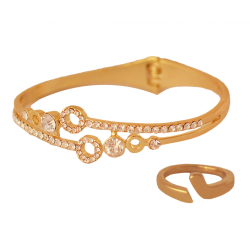 Trust Best 22K  Gold Plated  1 Pcs Bangale 1Pcs Ring,TB321