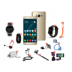 Well done12 In 1 Bundle Offer,Bestel Hot7 cell phone, Universal Rotating Phone Plate Holder, Portable USB LED Lamp, Zipper Stereo Wired Earphones, Ring Holder, Headphone, Mobile holder, Macra watch, Yazol watch, Selfie stick, Mp3 player, Led band watch