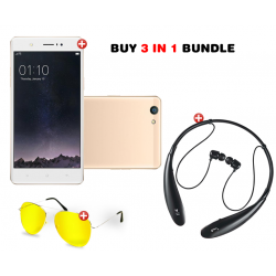3 in 1 Bundle Offer , Lenosed F4, Bluetooth Stereo Headset with Micro SD Support & FM Radio, HBS-TF730, Bonus Clip Hd Night Vision Glasses, N07470