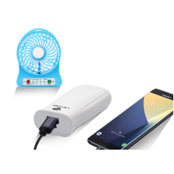 Buy 2 in 1 Bundle Offer, Portable Multifunctional Rechargeable Fan, Lenyes 6000mAh Power Bank For Smartphones