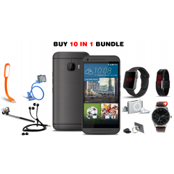 Golden 10 In 1 Bundle Offer, Ola smartphone, Portable USB LED Lamp, Zipper Stereo Wired Earphones, Ring Holder,  Mobile holder, Macra watch, Yazol watch, Selfie stick, Mp3 player, Led band watch