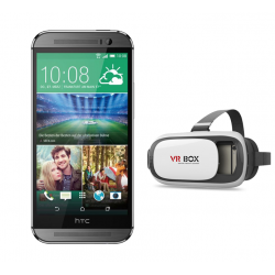 Buy 2 in 1 Bundle Offer, HTC One M8 R, 32GB, Virtual Reality VR BOX Glasses Rift 3D Movies & Games For Smartphones