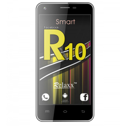 "Relaxx R10 Smartphone, 4G Dual Sim, Dual Cam, 5"" IPS, Black"
