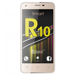 """Relaxx R10 Smartphone, 4G Dual Sim, Dual Cam, 5"""" IPS, Gold"""