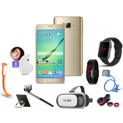 Happy 10 In 1 Bundle Offer, Bestel Hot8 cell phone, Portable USB LED Lamp, Ring Holder, Mobile holder, Macra watch, Selfie stick,  Led band watch, VR BOX , s Invisible Mini In-Ear Bluetooth,  Clip Lens