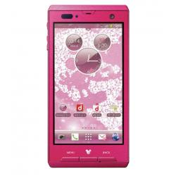 Disney Mobile on Docomo F-08d, Pink