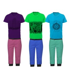 Stylish 6 in 1 Bundle Offer,Unisex  T-Shirt And Three Fourths Set Assorted Colors And Designs