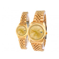 Extreme Gold plated Pair Watch For Men&Women, E1039G/1039L