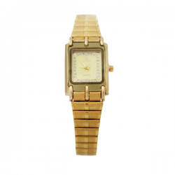 Rizen 18K Gold Electro Plated Watch For Woman, RZ166L