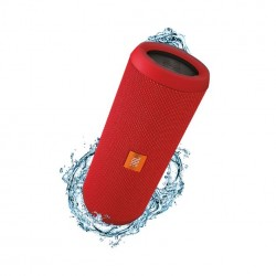 JBL Flip 3 Splashproof Portable Wireless Bluetooth Speaker with Built-In Powerbank, Red