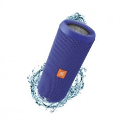 JBL Flip 3 Splashproof Portable Wireless Bluetooth Speaker with Built-In Powerbank, Blue
