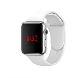 Macra Digital Unisex Watch, White