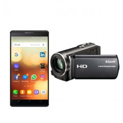 2 in 1 Bundle Offer,Bison Handy Cam Full HD Camera And Gever Smartphone