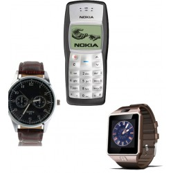 3 in 1 Bundle Offer , Nokia 1100 Mobile Phone , Lenosed L1 SmartWatch , Yazole Watch