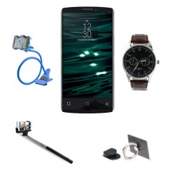 5 in 1 Bundle Offer, Kimfly Z9 Smartphone, Mobile Holder, Selfie Stick, Mobile Phone Ring Holder, Yazole Fashion Watch