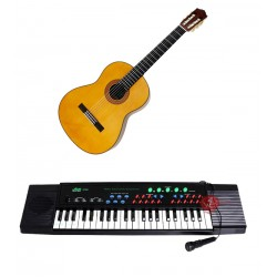 2 In 1 Bundle Offer String Guitar,Electronic Organ Piano For Kids