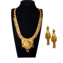 Trust Best 22K Gold Plated Long Necklace Set, TB35