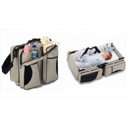 Elinfant Portable Newborn Baby Bed Folding Travel Cot Bag Large Capacity Multifunction Mommy Bag, E01