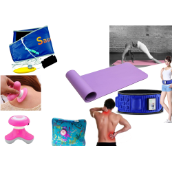 5 In 1 Healthy Special Bundle Offer, Xinyan Apple Mini Electric Massager,Health And Safety Electro Thermal Hot Water,Velform Sauna Belt Slimming Healthy Diet Fat Burner Exercise Weight Lose,X5 Super Body Gym Slim Belt,Exercise Light Weight Yoga Mat, BA03