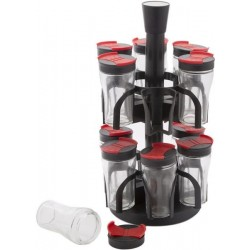 12 Pcs Spice Jars With Rotating Rack Stand Set, SJ3206