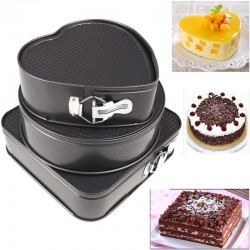 3 Pcs Nonstick Springform Pan Home Made Cake Maker Set, G019