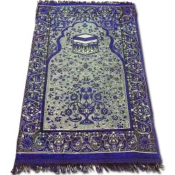 Luxury Turkish Muslim Prayer Mat Holly kaaba, G06