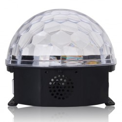 Magic Led RGB Crystal Ball Projector Dj Disco Light Speaker Micro Sd&Usb Support With Remote Control, G02