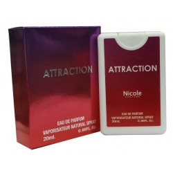 Nicole Attraction Eau De Toilette Vaporisateur Natural Poket Spray NA30