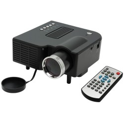 Bison Entertainment Mini LED Projector, 48 Lumens, With HDMI, VGA, AV, USB, SD Card Slot