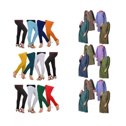 24 in 1 Bundle Offer, Universal Kurta And Leggings Set Assorted Colors And Designs